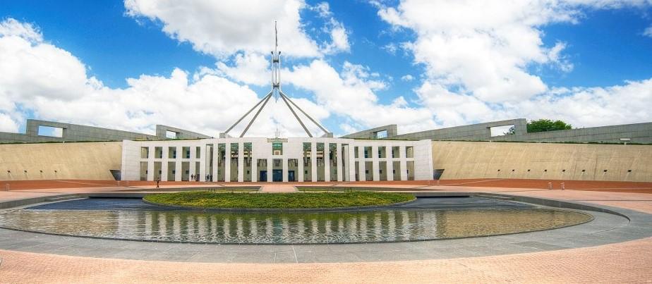 Parlamento Canberra Estudar e Trabalhar Austrália